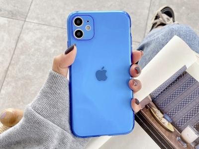 Силиконов Гръб за iPhone 11, Син