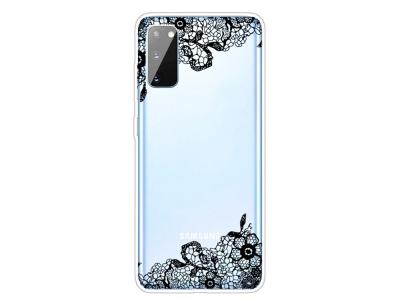 Силиконов гръб за Samsung Galaxy A41, Орнаментни цветя