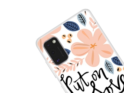Силиконов гръб за Samsung Galaxy A41, Цветчета