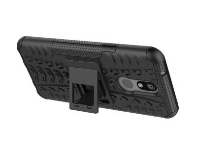 Удароустойчив гръб с поставка Hybrid за LG K40/K12 Plus, Черен