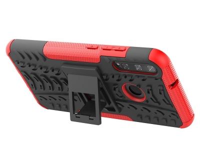 Удароустойчив гръб с поставка Hybrid за Huawei P40 lite E/Y7p/Honor 9C, Червен