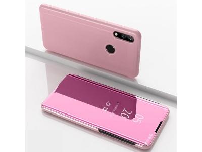 Калъф Тефтер View Window за Huawei P40 lite E / Y7p, Розов- Златист