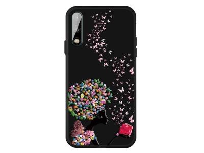 Силиконов гръб Matte за Huawei P40 Lite E/Y7P, Цветя и Пеперуди