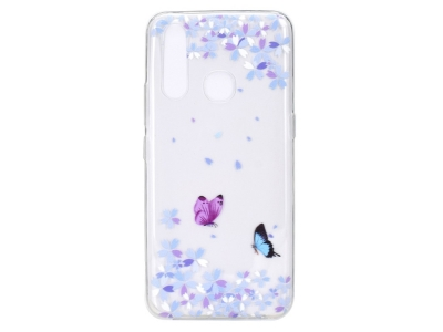 Силиконов гръб за Huawei P40 Lite E/Y7P, Цветя и Пеперуди