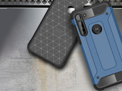 Удароустойчив гръб Armor за Motorola Moto G8 Power , Светло син
