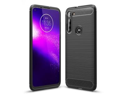 Силиконов гръб Carbon за Motorola Moto G8 Power, Черен