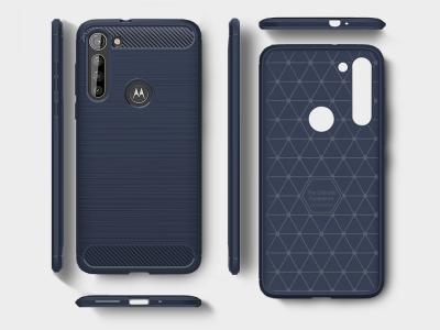 Силиконов гръб Carbon за Motorola Moto G8 Power, Син