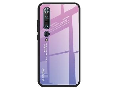 Стъклен гръб Glass за Xiaomi Mi 10 / Mi 10 Pro, Розов- Светло лилав