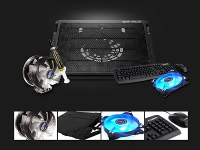 Охладител Notebook Cooler Zalman 16 инча, Черен