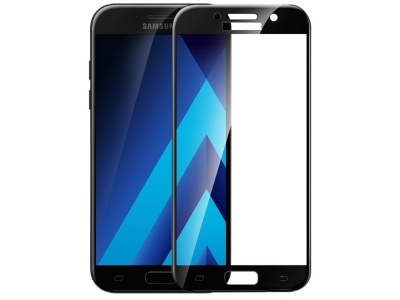 Стъклен протектор 5D Full Glue за Samsung Galaxy J7 (2017) J730, Черен