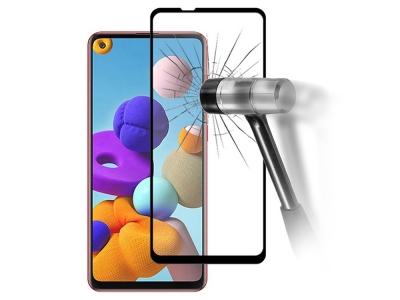 Стъклен протектор 5D Full Glue за Samsung Galaxy A21s, Черен