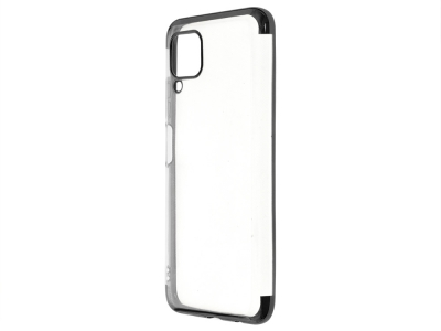 Силиконов гръб с лайстна CLEAR за Huawei P40 Lite, Черен