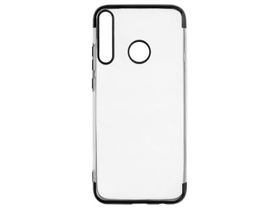 Силиконов гръб с лайстна CLEAR за Huawei P40 Lite E / Y7p, Черен