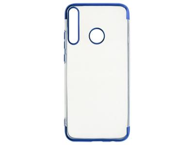 Силиконов гръб с лайстна CLEAR за Huawei P40 Lite E / Y7p, Син