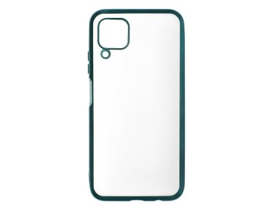 Силиконов гръб с лайстна Matte CLEAR за Huawei P40 Lite, Зелен
