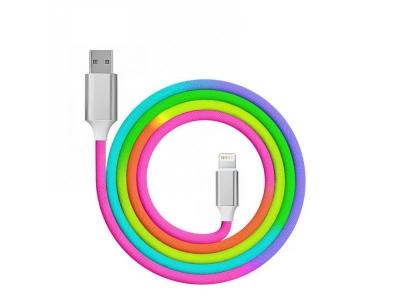 Кабел USB към Lightning QC 3.0 Rainbow 1m, Дъга