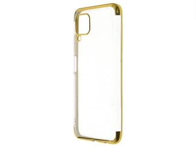 Силиконов гръб с лайстна CLEAR за Huawei P40 Lite, Златист