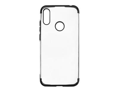 Силиконов гръб с лайстна CLEAR за Huawei Y6 (2019), Черен
