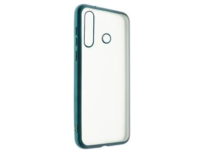 Силиконов гръб с лайстна Matte CLEAR за Huawei Y6P, Зелен