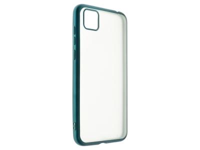 Силиконов гръб с лайстна Matte CLEAR за Huawei Y5P, Зелен