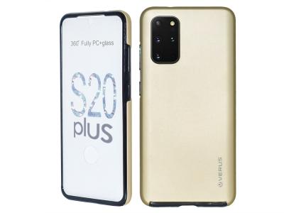 360 Градуса Калъф за Samsung Galaxy S20 Plus, Златист