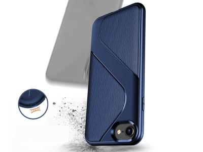 Силиконов Гръб S-shaped Air за iPhone SE 2nd Gen (2020)/8/7, Син