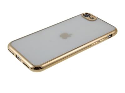 Силиконов гръб с лайстна CLEAR за iPhone 7 / 8 / SE 2020, Златист