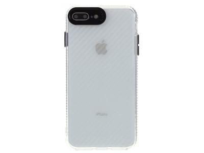 Удароустойчив гръб Carbon за iPhone 8 Plus/7 Plus, Прозрачен-Черен