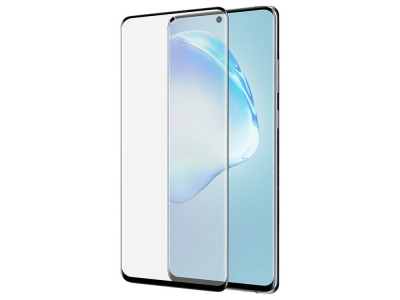 Удароустойчив Протектор 5D Full Glue Nano Glass за Samsung Galaxy S20 Ultra, Черен