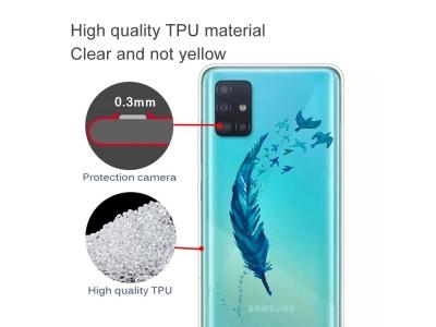 Силиконов гръб за Samsung Galaxy A31, Перо