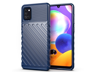 Силиконов гръб Twill Skin за Samsung Galaxy A31, Син
