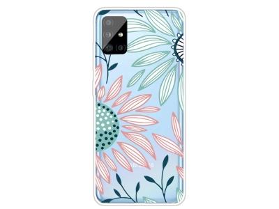 Силиконов Гръб за Samsung Galaxy A31, Цветя