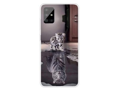Силиконов Гръб за Samsung Galaxy A31, Котка и тигър