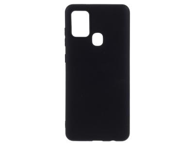Силиконов Гръб Matte за Samsung Galaxy A21s, Черен