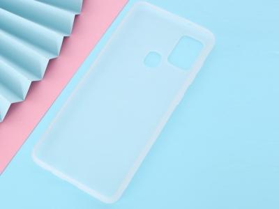 Силиконов Гръб Matte за Samsung Galaxy A21s, Бял