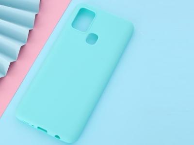 Силиконов Гръб Matte за Samsung Galaxy A21s, Син