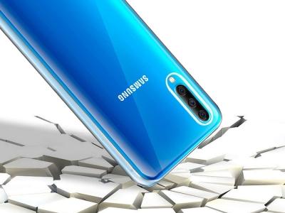 360 градуса силиконов калъф за Samsung Galaxy A20/A30/A50, Прозрачен