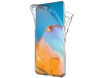 360 градуса силиконов калъф за  Huawei P40, Прозрачен