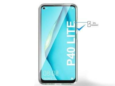 360 градуса силиконов калъф за Huawei P40 Lite, Прозрачен