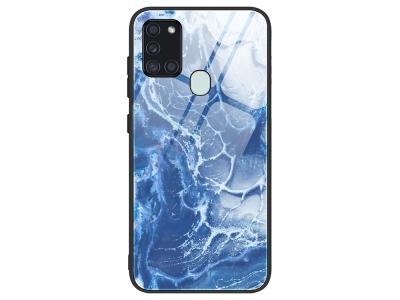Стъклен гръб Glass за Samsung Galaxy A21s,Океан