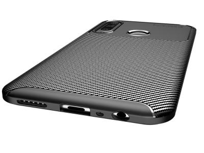 Силиконов гръб Beetle Carbon за Huawei Y6p, Черен