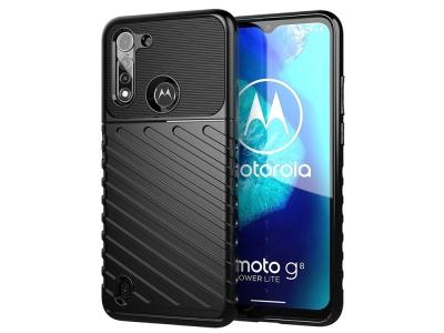 Силиконов гръб Twill Skin за Motorola Moto G8 Power Lite, Черен