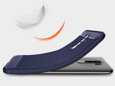 Силиконов гръб Carbon за Xiaomi Redmi 9, Син