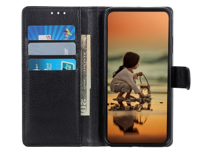 Калъф тефтер Litchi за Xiaomi Redmi 9A, Черен