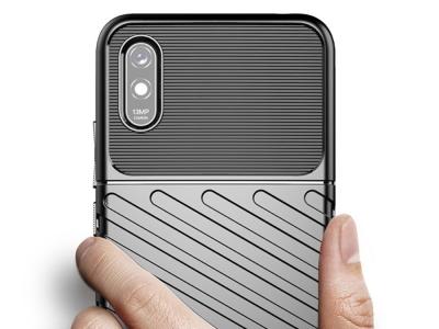 Силиконов гръб Twill Skin за Xiaomi Redmi 9A, Черен