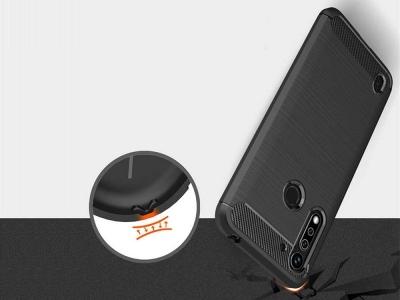 Силиконов гръб Carbon за Motorola G8 Power Lite, Черен