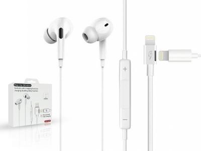 Слушалки с микрофон JH-015 Lightning, Бял