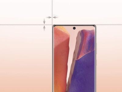 Стъклен протектор 5D Full Glue 0.18 mm за Samsung Galaxy Note 20 Ultra, Черен