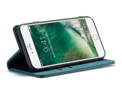 Калъф Тефтер CASEME за iPhone 7 / iPhone 8 / iPhone SE 2020, Петролено зелено