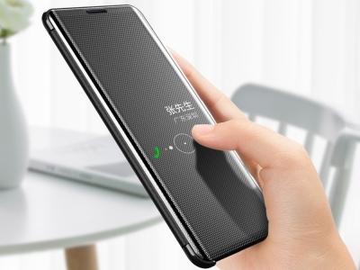 Калъф Тефтер Clear View Window за Iphone 7/8/SE (2020), Черен